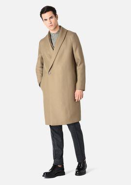 Armani Classic Coats Men coat in virgin wool double collar