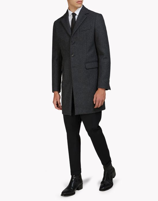 wool felt coat mäntel & jacken Herren Dsquared2