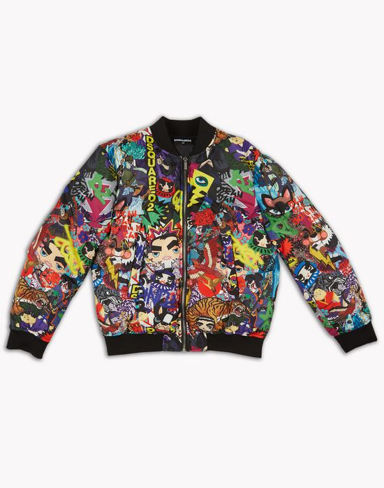 manga bomber jacket coats & jackets Man Dsquared2