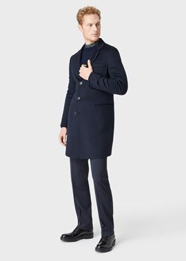 Armani Classic Coats Men double cashmere coat