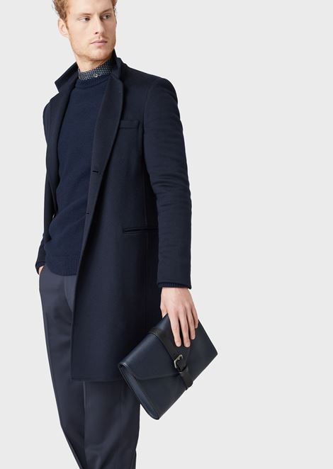 DOUBLE CASHMERE COAT: Classic Coats Men by Armani - 5