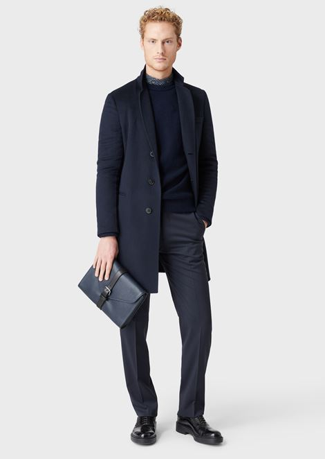DOUBLE CASHMERE COAT: Classic Coats Men by Armani - 4