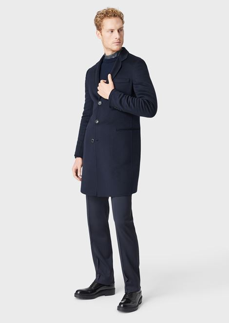 DOUBLE CASHMERE COAT: Classic Coats Men by Armani - 1