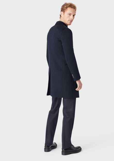 DOUBLE CASHMERE COAT: Classic Coats Men by Armani - 2