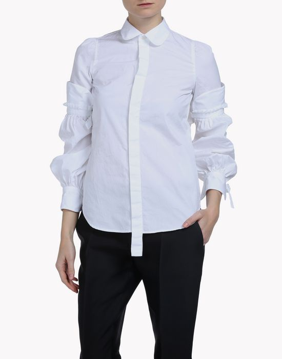 amish poplin bonnet sleeve shirt shirts Woman Dsquared2