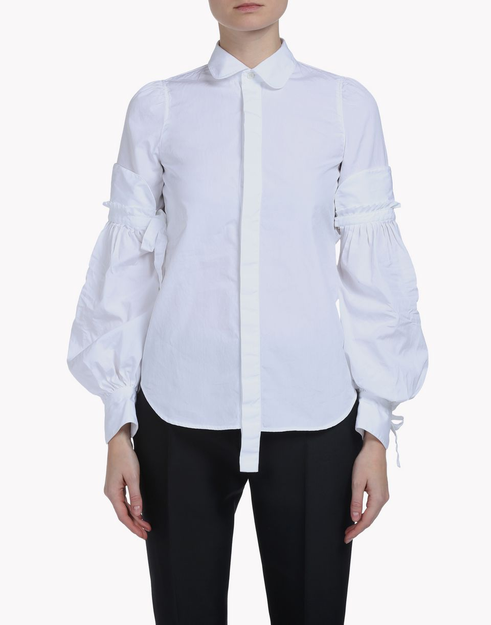 amish poplin bonnet sleeve shirt hemden Damen Dsquared2