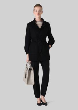 Armani Peacoats Women double wool coat
