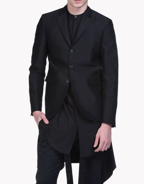 straight silk wool blend blazer mäntel & jacken Herren Dsquared2