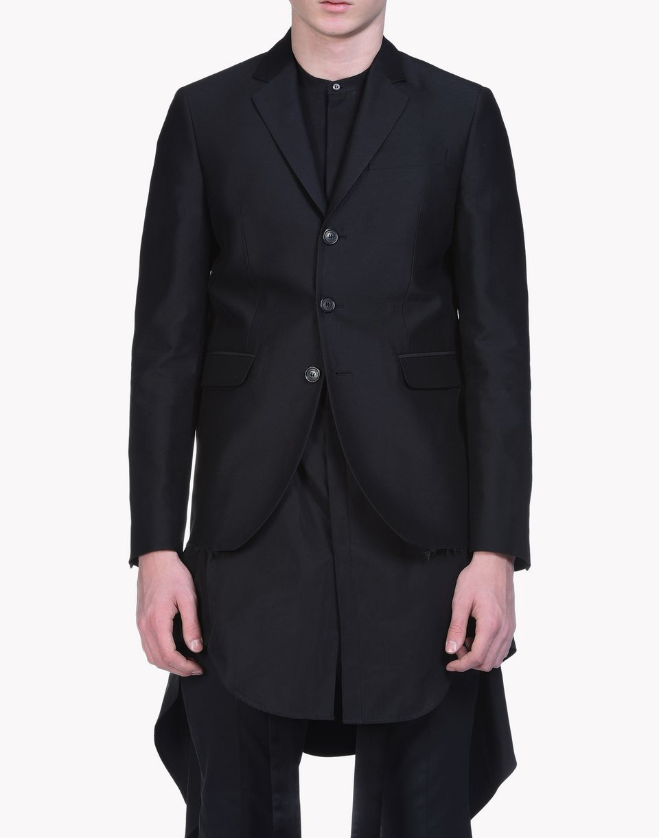 straight silk wool blend blazer coats & jackets Man Dsquared2