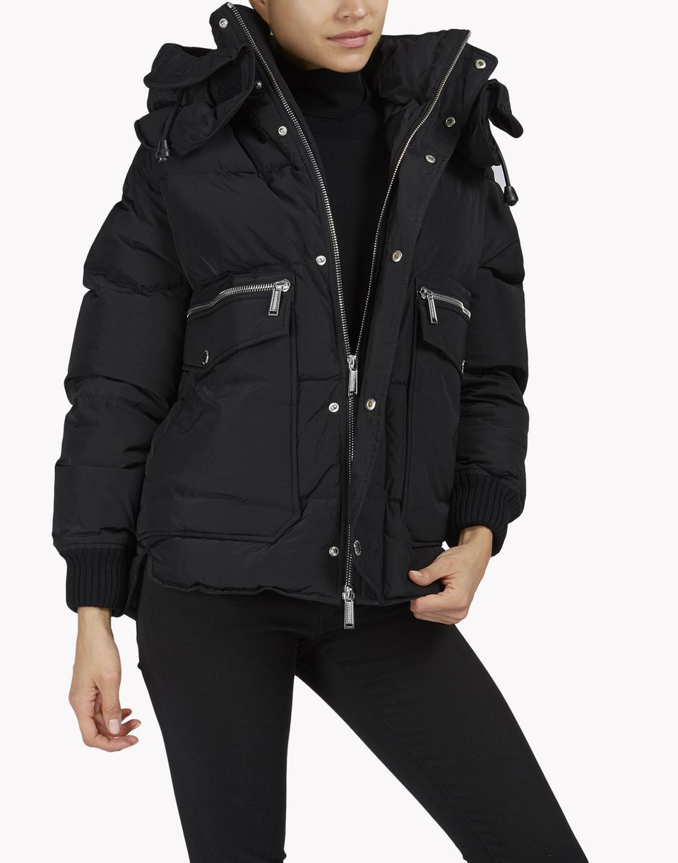 puffer hood quilted down jacket coats & jackets Woman Dsquared2