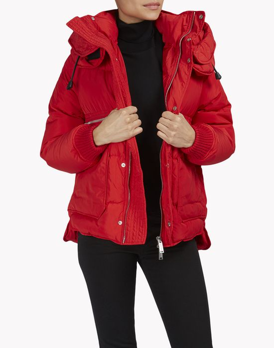 puffer hood quilted down jacket mäntel & jacken Damen Dsquared2
