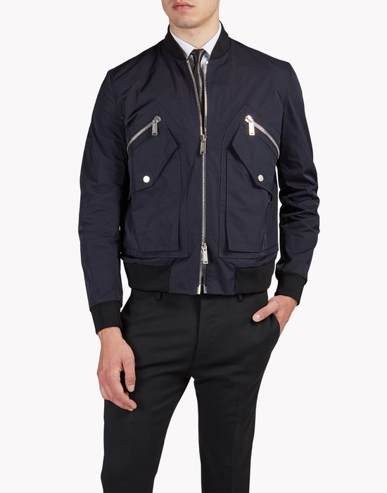 pocket memory twill bomber jacket manteaux & vestes Homme Dsquared2