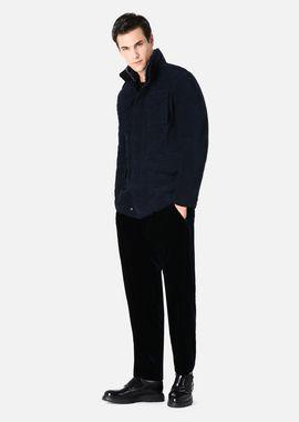 Armani Peacoats Men safari pea coat in cotton velvet