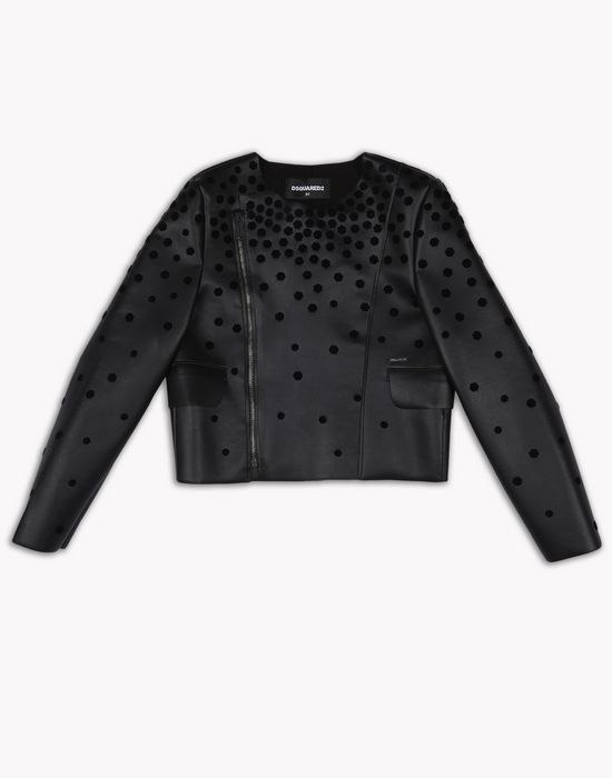 spotted jacket coats & jackets Woman Dsquared2