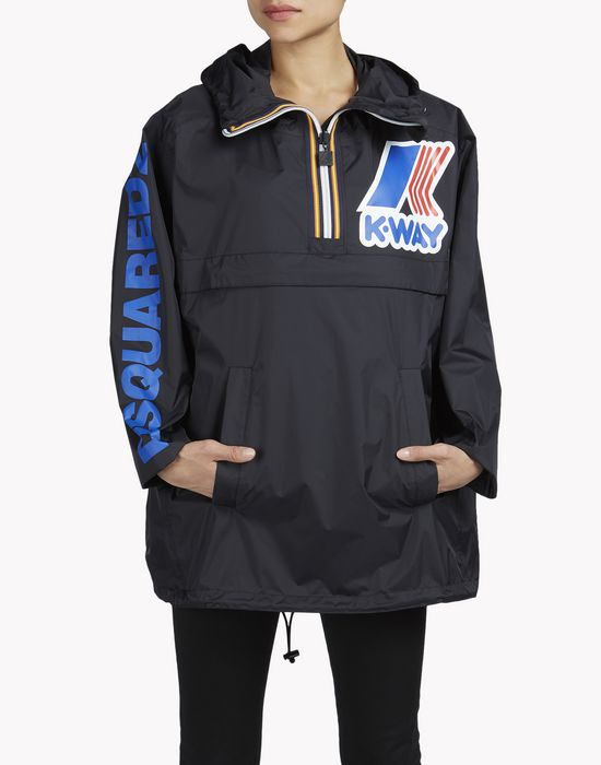 k-way reversible windbreaker anorak coats & jackets Woman Dsquared2