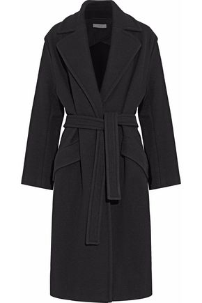 이로 IRO Belted wool-blend coat,Black