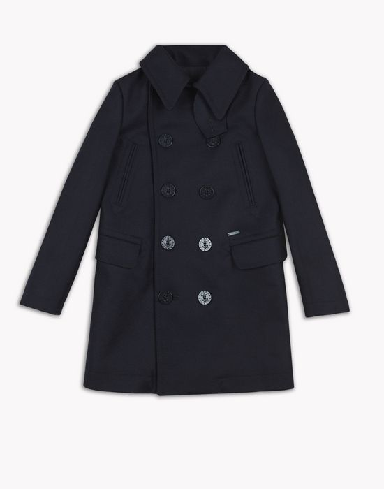 double-breasted collared coat mäntel & jacken Herren Dsquared2