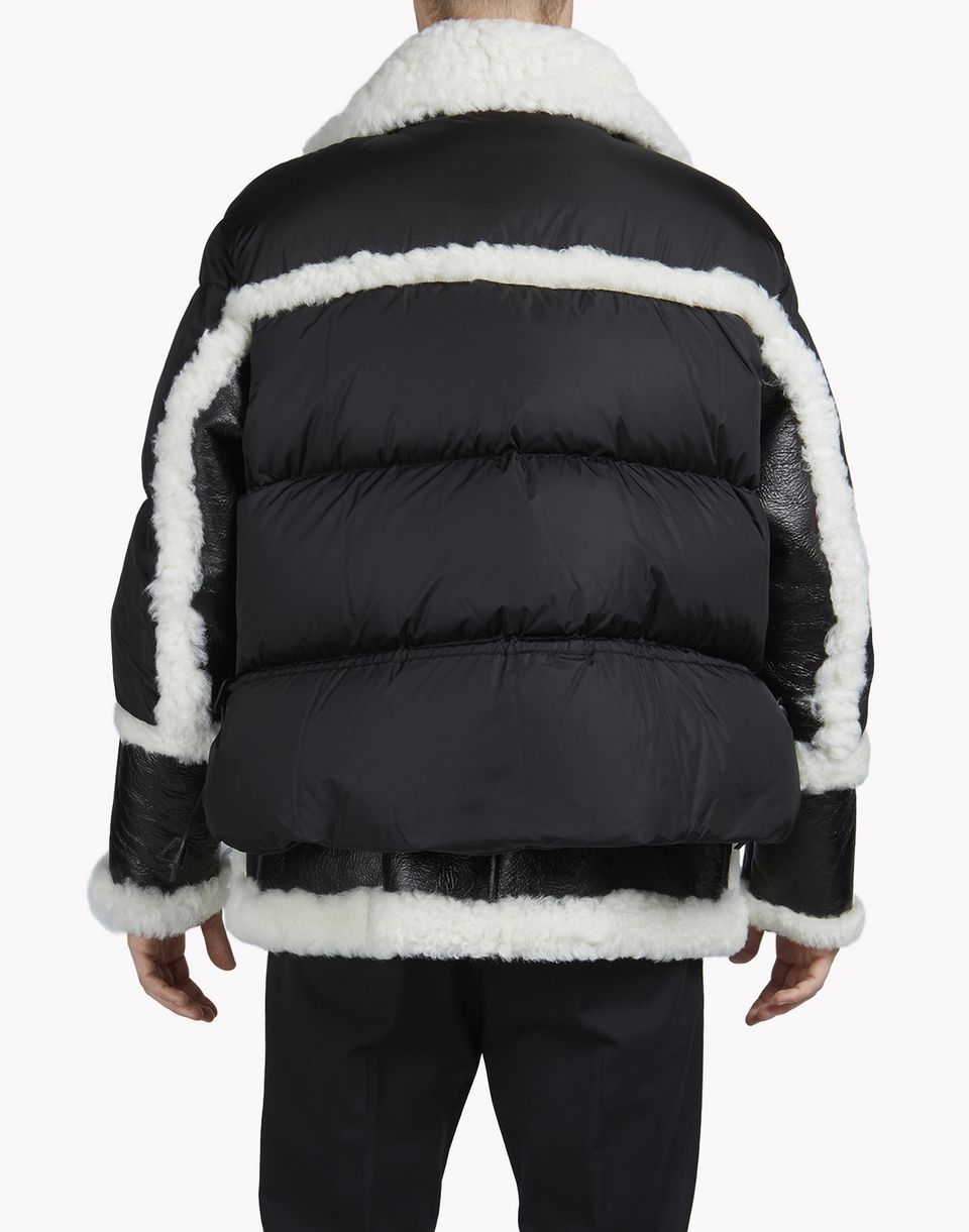 shearling-trimmed puffer jacket coats & jackets Man Dsquared2
