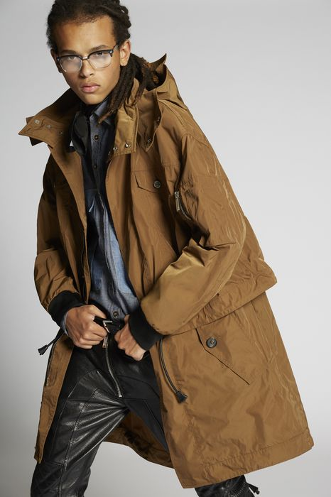 nylon parka coats & jackets Man Dsquared2