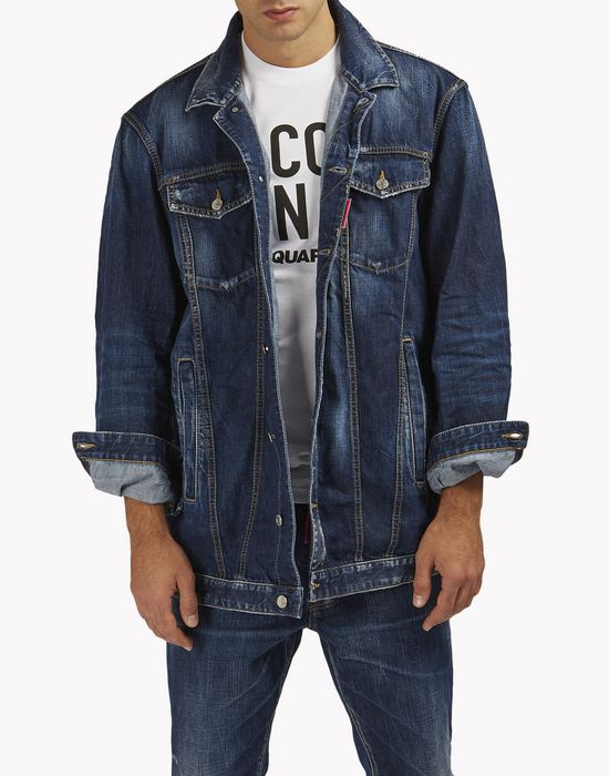 be cool be nice over denim jacket coats & jackets Man Dsquared2