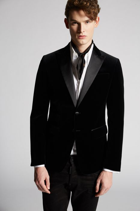 chic velvet london jacket coats & jackets Man Dsquared2