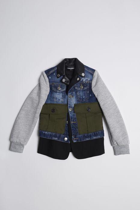 mix fabrics jacket coats & jackets Man Dsquared2