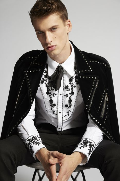 studded chic velvet jacket coats & jackets Man Dsquared2