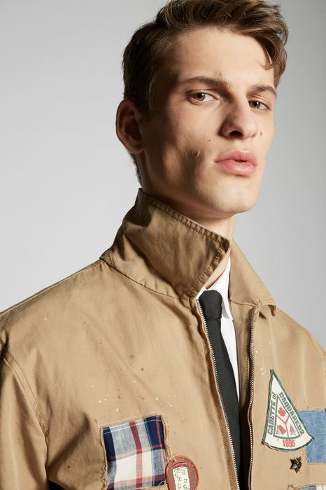 cotton twill patches jacket coats & jackets Man Dsquared2