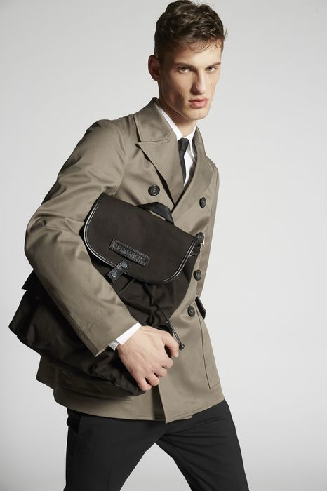 stretch twill cotton peacoat coats & jackets Man Dsquared2