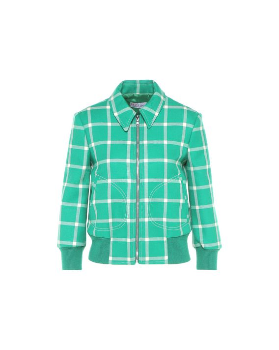 REDValentino Wool cavalry check bomber