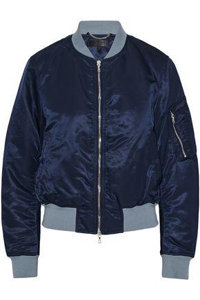 랙앤본 Rag & Bone Two-tone shell bomber jacket,Navy