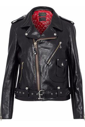 랙앤본 Rag & Bone Schott embellished leather biker jacket,Black
