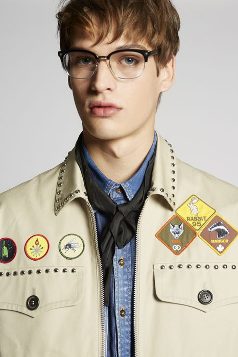 cotton twill patches sportsjacket coats & jackets Man Dsquared2