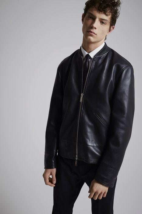 leather sportsjacket coats & jackets Man Dsquared2