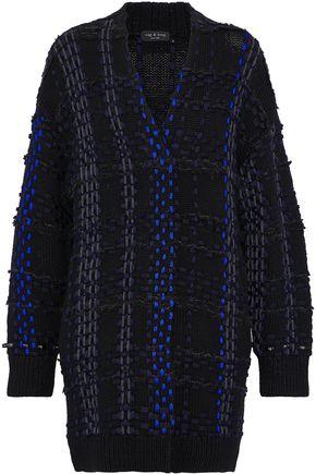 랙앤본 Rag & Bone Woven-embellished wool-blend cardigan,Black