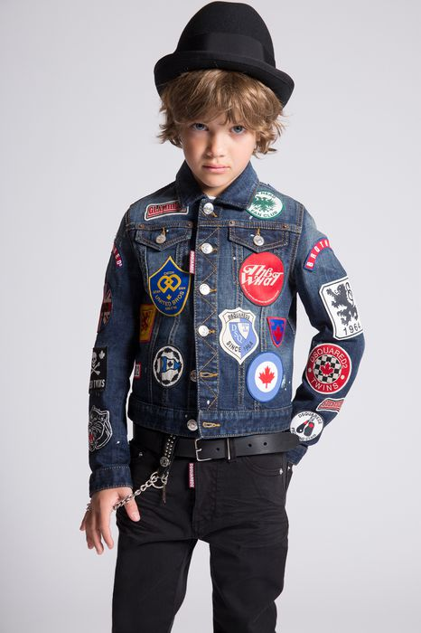 patches denim jacket coats & jackets Man Dsquared2