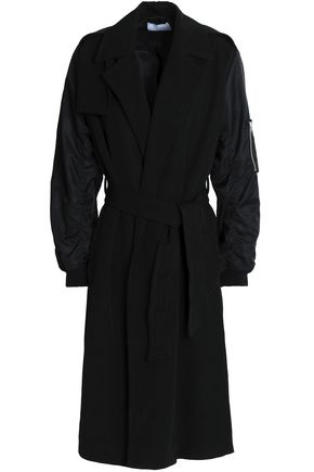 산드로 SANDRO Twill trench coat,Black