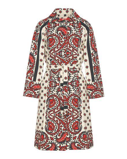 Bandhana 印纹棉质小卵石纹织物大衣