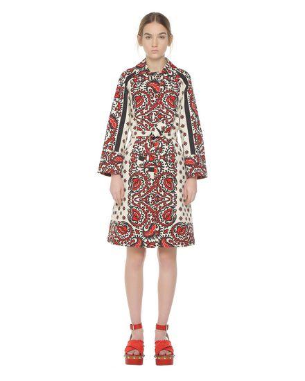 Bandana-print armure cotton coat