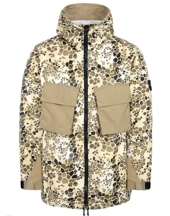87a612b4adf3c 707E1 ALLIGATOR CAMO LIGHT COTTON NYLON REP Jacket Stone Island Men -  Official Online Store