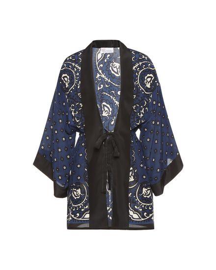 Bandhana 印纹真丝和服