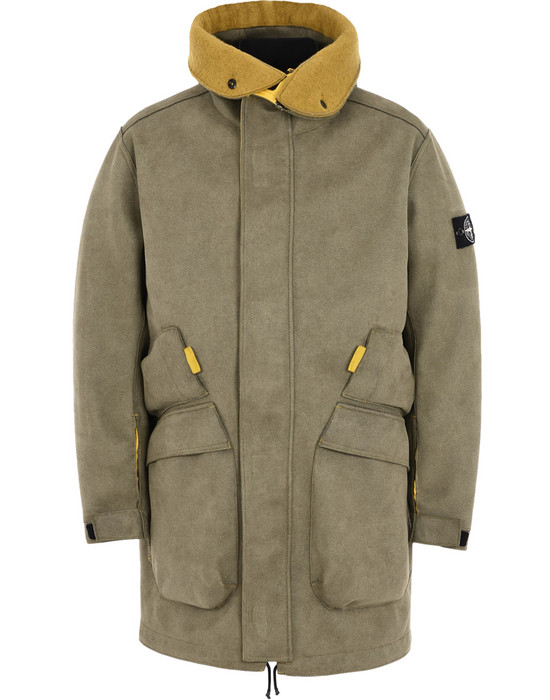 a1331753c9b LONG JACKET 71229 MAN MADE SUEDE-TC STONE ISLAND - 0