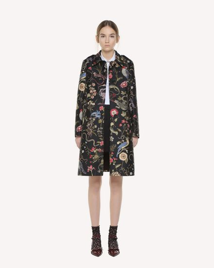Flora and fauna Brocade coat