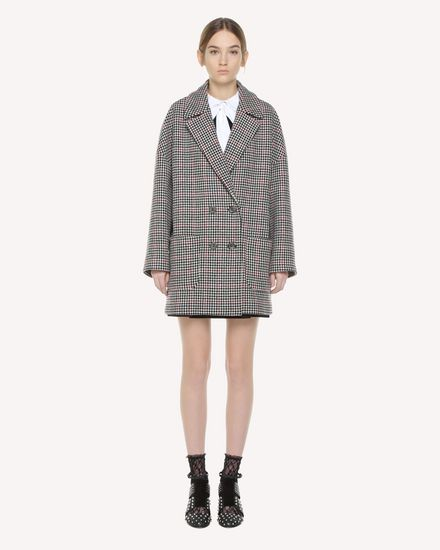 Double Windowpane oversize coat
