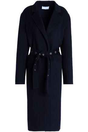 산드로 SANDRO Double-breasted wool-felt coat,Navy