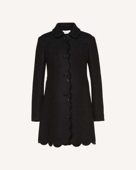 扇形细节 Marina 厚呢大衣