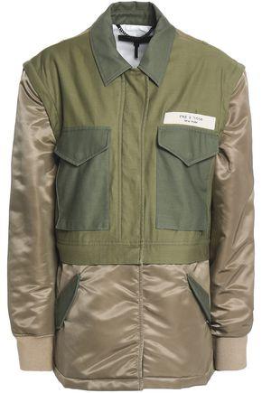 랙앤본 Rag & Bone Modular convertible cotton-canvas and shell jacket,Army green