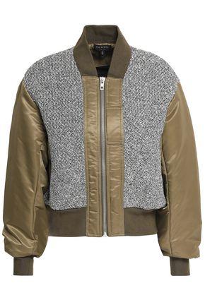 랙앤본 Rag & Bone Woven-paneled cotton-shell bomber jacket,Army green