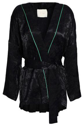 마쥬 자켓 MAJE Belted jacquard jacket,Black
