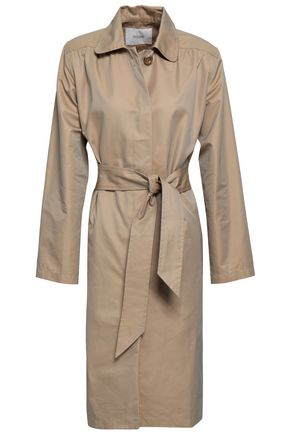 마쥬 MAJE Gamby cotton-blend gabardine trench coat,Sand